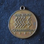 First Marathon medal 1987 May 3 Long Beach Marathon CA