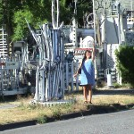 I think this home was in Tumwater, some pretty cool metal sculptures