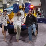 David, Ken Bob, Preston in front of Toe Truck, Boston Marathon Expo (2005)
