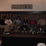 Runner's World panel with Barefoot Ken Bob, Boston Marathon (2005)