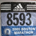 Ken Bob's race number, Boston Marathon (2005)