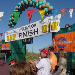 The finish line of the Tucson Marathon