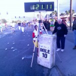 Mile ten at about an 8-min/mile pace.. too fast for a 4-hour goal, Las Vegas Marathon (2006 December 10) Las Vegas NV