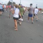 After running 26.2 miles in shoes people begin to realize that barefoot is best (2007 July 29) San Francisco Marathon