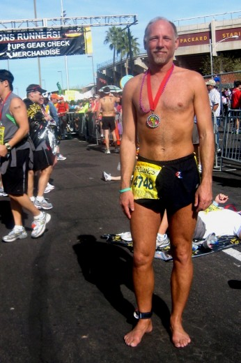 Todd after finisihing Rock 'n' Roll Arizona Marathon 2009 January 18