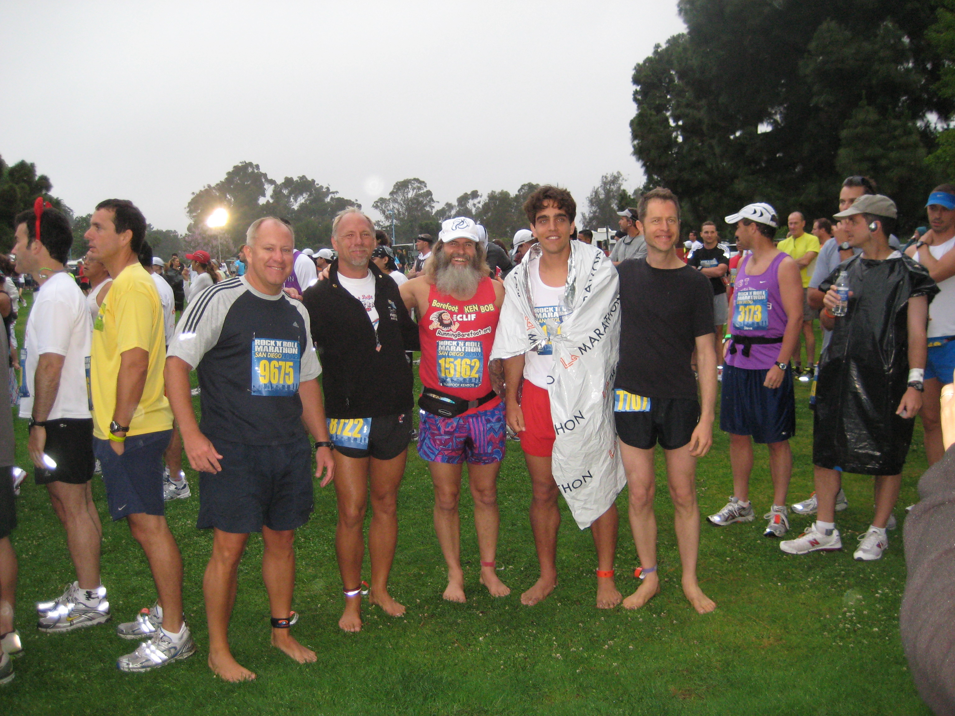 Barefoot Runners - Jim, Todd, Ken Bob, Julian, Chris