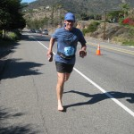 Barely Barefoot Don, bares his feet for the final 2 miles