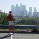 Todd and the Los Angeles skyline