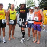 Silver, Todd, Joe, Cathy, and Ken Bob at the start