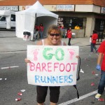 Mile 20, Kathy and Go Barefoot Runners!