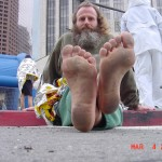 What Ken Bob's soles look like after a Marathon (2001 March 4) Los Angeles CA