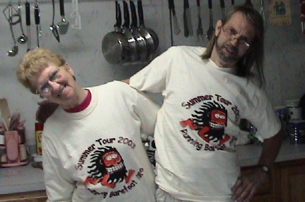Flo Saxton, Pat Saxton, Running Barefoot 2003 Summer Tour