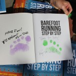 Barefoot Running Step by Step with auto-foot-print-graphs