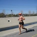 Ted running the Orange Curtain 100K Cerritos CA
