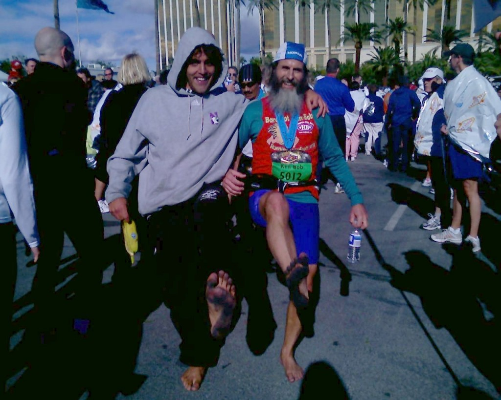 Julian Romero with Ken Bob Saxton, Las Vegas Marathon 2006 December 10 Las Vegas NV