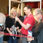 Owners cut the ribbon
