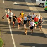 Caity (middle in blue shirt) Ken Bob (front with brown dog) Barefoot Running Step by Step - page 41 2010 November 6 Sunset Beach CA
