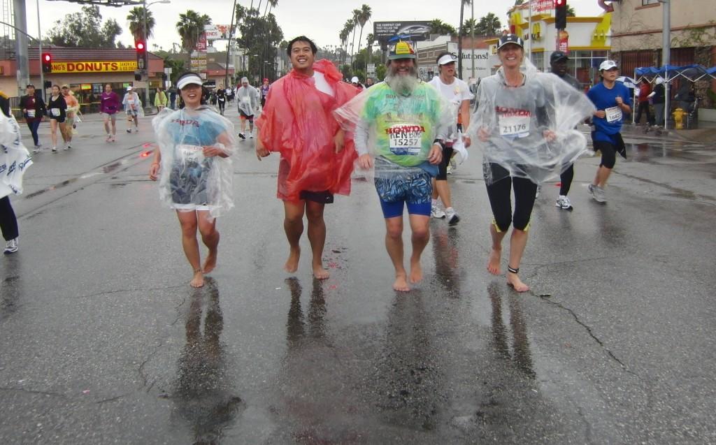 Aika, Merlin, KenBob, Caity, Los Angeles Marathon 2011 March 20 Los Angeles CA