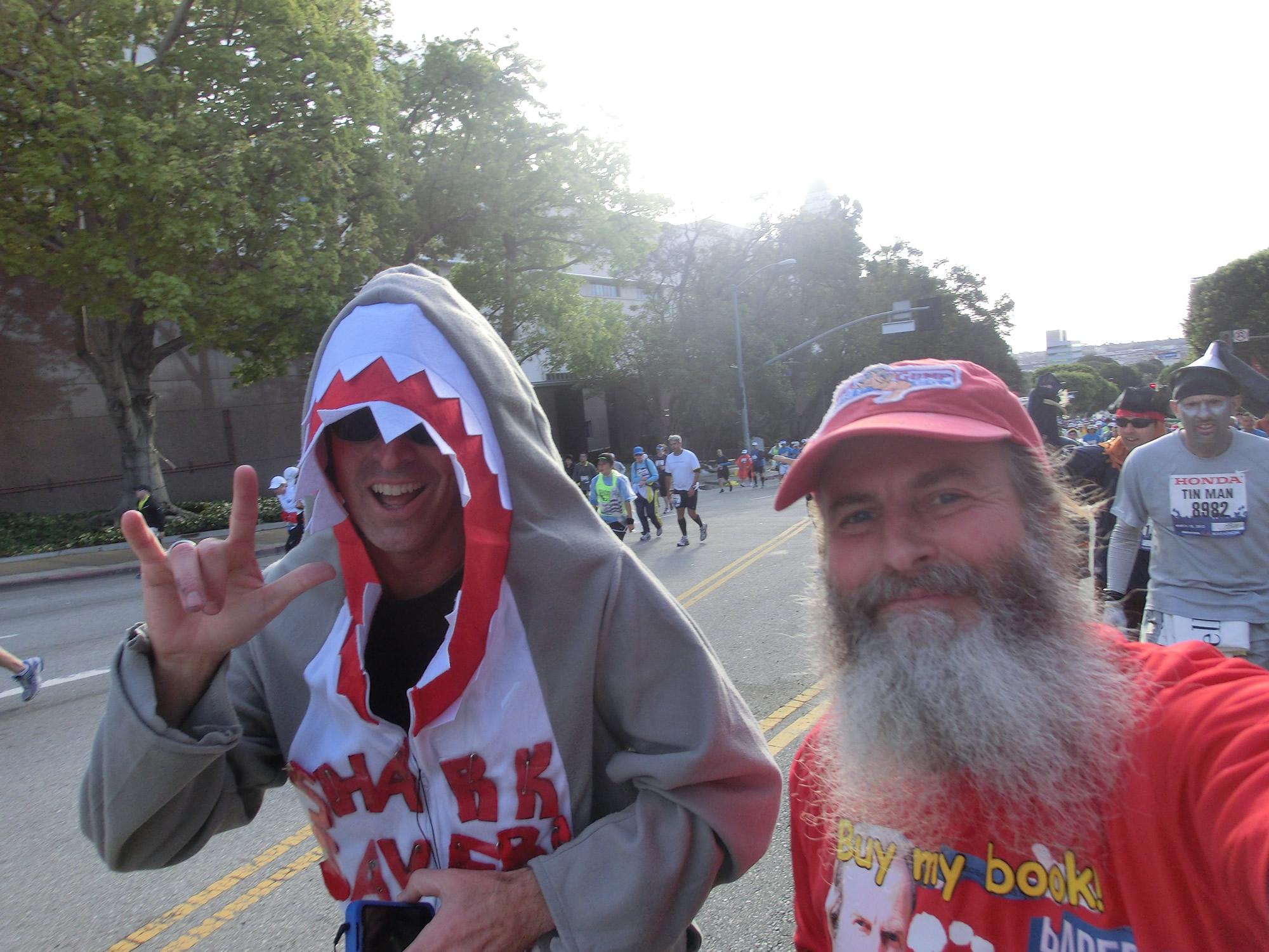 Shark and Ken Bob (2012 March 18) Los Angeles Marathon