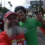 Ken Bob and Merlin (2012 March 18) Los Angeles Marathon