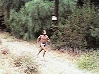 Ken Bob's bare front, Road Less Traveled 10-Mile Trail Run