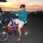 Roy M. Wallack on a RowBike