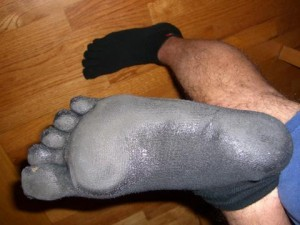 David's Injinji Sock w/Plasti-dip bottom