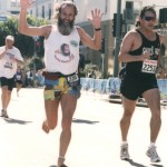 Ken Bob, Fast Eddie (2002 March 3) Los Angeles Marathon
