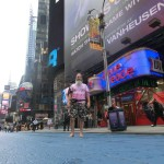 Ken Bob in Times Square, NYC Barefoot Run (2011 September 24-25) New York City NY