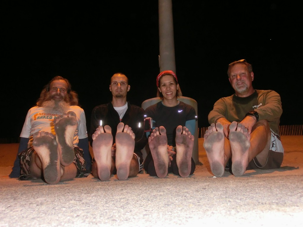 Ken Bob, Jason, Tiffany, and Bernard's soles (2012 Feb 2) Thursday Evening Runs