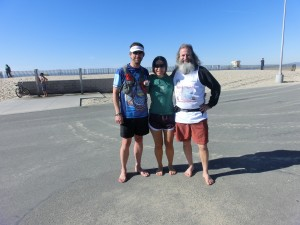 "Robert ""Shacky"", Vanessa Runs, and Barefoot Ken Bob (2012 February 4) Regular Saturday Morning Runs"