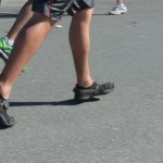 Heel strike in Vibrams, not pretending (2012 February 5) Surf City Marathon