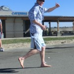 Kenneth McNeely (AKA Barefoot Kenny) - no 'barefoot shoes' (2012 February 5) Surf City Marathon
