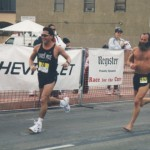 Eddie, Ken Bob, Pacific Shoreline Marathon (2000 January 30) Huntington Beach CA
