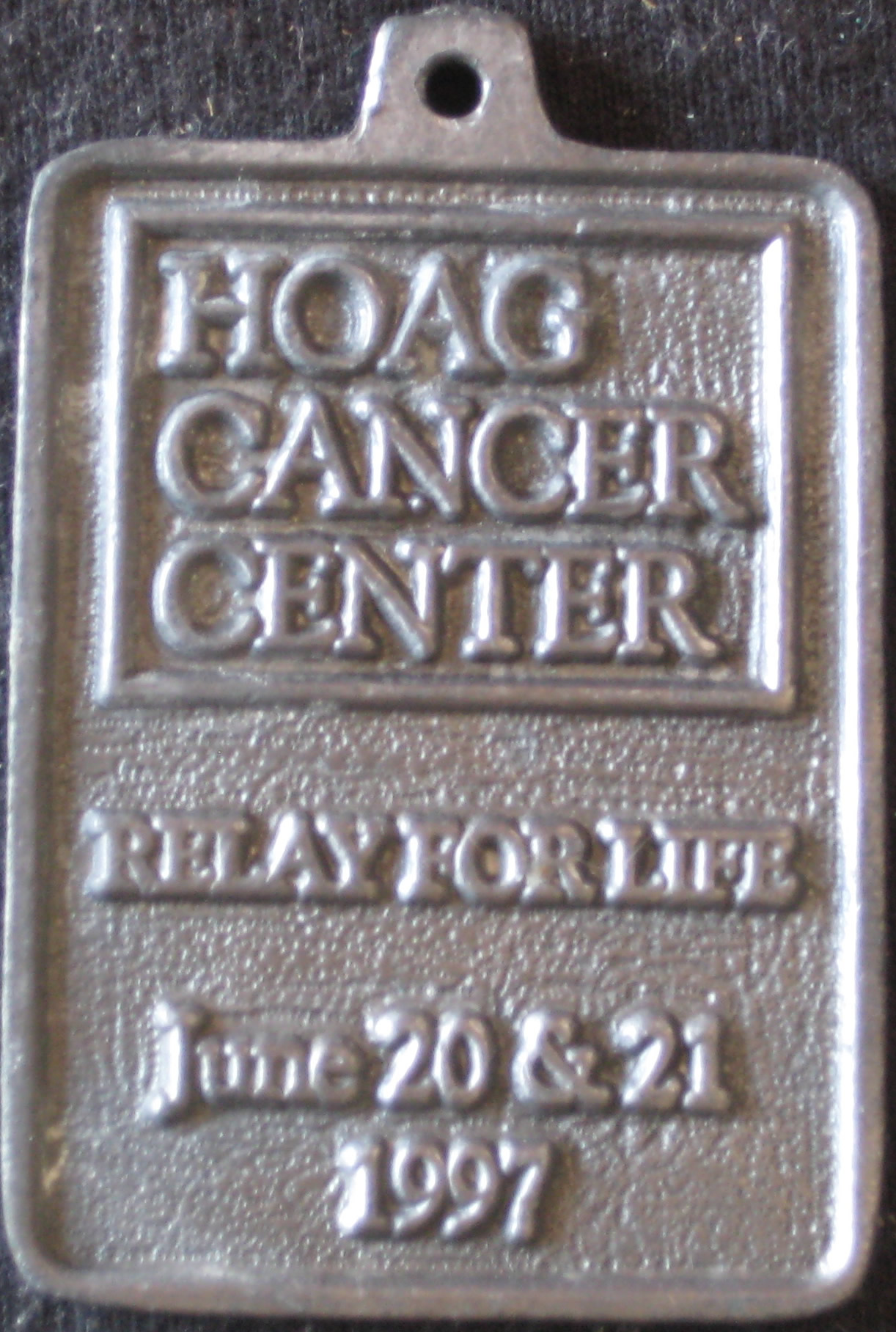 Medal -side B (1997 June 20-21) Relay for Life