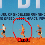 David on the front cover of Barefoot Running Step by Step