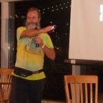 Ken Bob makes another point at NYC Barefoot Run (2011-09-24-25) photo courtesy Ivan Olarte (ivanolarte@comcast.net)