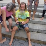 Reviewing drills in slow motion with Ken Bob, NYC Barefoot Run (2011-09-24-25) photo courtesy Ivan Olarte (ivanolarte@comcast.net)