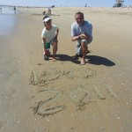 leaving our mark on the beach – International Barefoot Running Day (2011 May 1) Huntington Beach CA