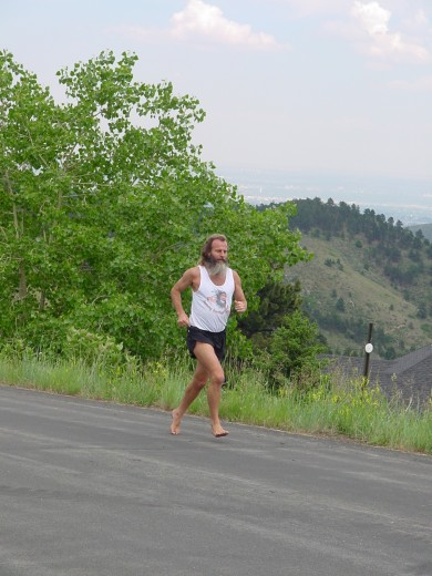 Ken Bob running on Lookout Mountain (2005 June 22) Golden Co