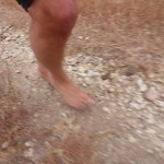 Ken Bob's foot on the 10-mile trail (2011 May 13-15) Born to Run Ultramarathons, Los Olivos CA