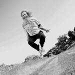 Ken Bob flying – by Luis Escobar (2011 May 13-15) Born to Run Ultramarathons, Los Olivos CA