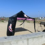 Barefoot Running canopy and Elizabeth from Voice of America (2012 May 6) IBRD, Huntington Beach CA