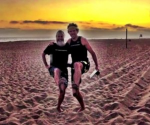 Robbo and Ken Bob, Tuesday Evening Regular Runs (2012 May 22) Sunset Beach CA