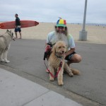 Ken Bob with famed dog, Kasey - pictured page 41 in Barefoot Running Step by Step
