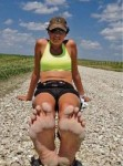Rae's Run Across America (barefoot)… less than 200 miles to go!