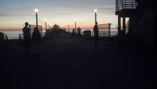 Manhattan Beach Pier just after sunset
