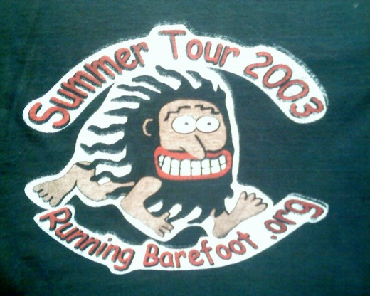 Running Barefoot 2003 Summer Tour logo