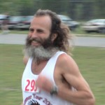 Ken Bob finishing Westwood 5K (2003 June 7) Traverse City MI