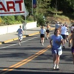 Katy Beth and Ken Bob at the start of Beat the Burnside (2003 July 20) Portland OR